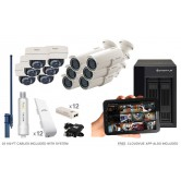 12 Camera Premium Wireless IP CCTV System