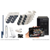 16 Camera Premium Wireless IP CCTV System