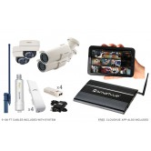 4 Camera Premium Wireless IP CCTV System
