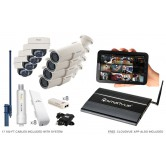 8 Camera Premium Wireless IP CCTV System